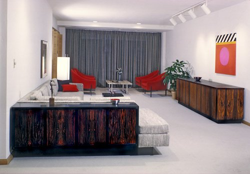 Mid-Century Modern Design in a modern bachelor apartment